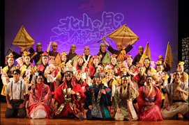 Wind of modern version group dancing Kitayama