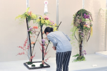Flower design exhibition, state of display