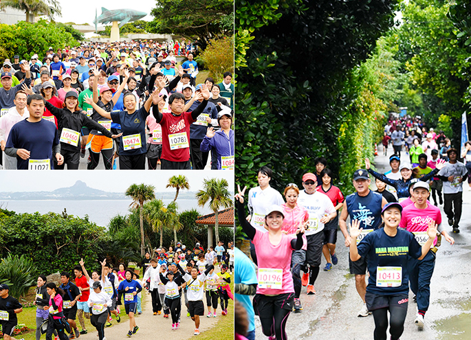 Under recruitment of the 39th Ocean Expo Park whole country trim marathon conventionalists!