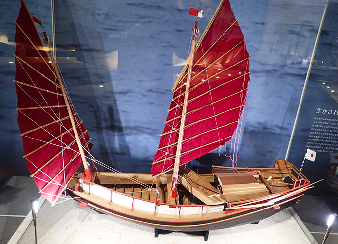 Mer orchid ship (horse vessels) model of Okinawa