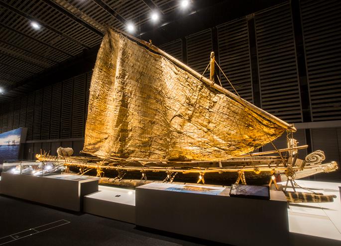 Large canoe (kurakanu) of the Pacific