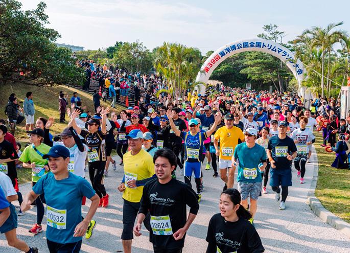 在第40次海洋博公園全國修剪馬拉松大會H31 1/20(星期日)舉行,決定!參加者大學招募!