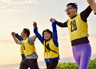 Under recruitment of the first Ocean Expo Park relay marathon participants!