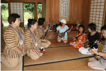 Hands-on experience of old Okinawan life