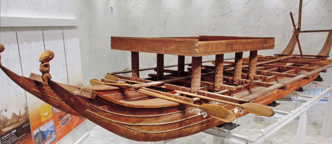 The Oceanic Culture Museum's Double-hulled Canoe