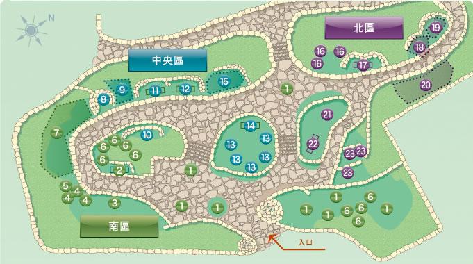 植物園堪探的插圖地圖