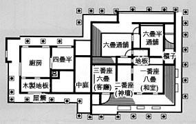 上江洲房子的戶型平面圖