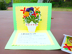 做花朵標本的留言卡吧