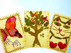 花朵標本的風景明信片的建設