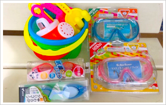 Goggles, mask, sandbox set