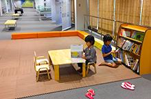 [海洋文化馆]设置了连环画能够阅读的小孩角