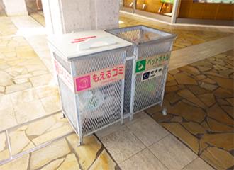 설치한 쓰레기통(하이사이프라자 안뜰)