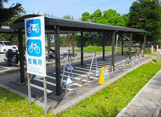 Motorcycle rack (the P5 parking hall)